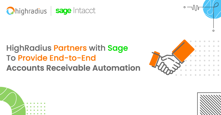 HighRadius Partners with Sage To Provide End-to-End Accounts Receivable Automation