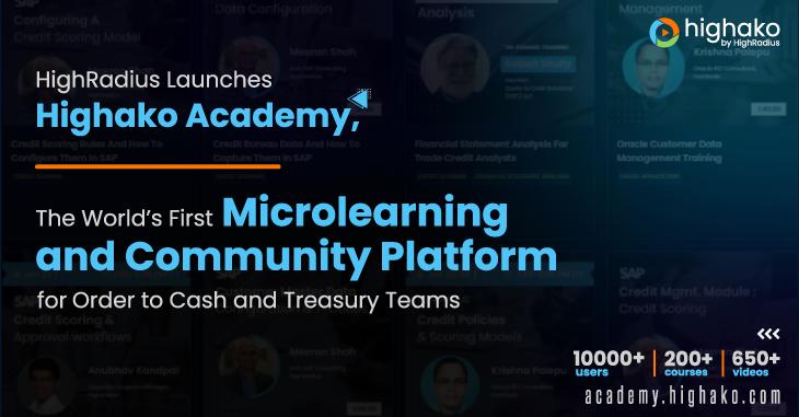 HighRadius Launches Highako Academy